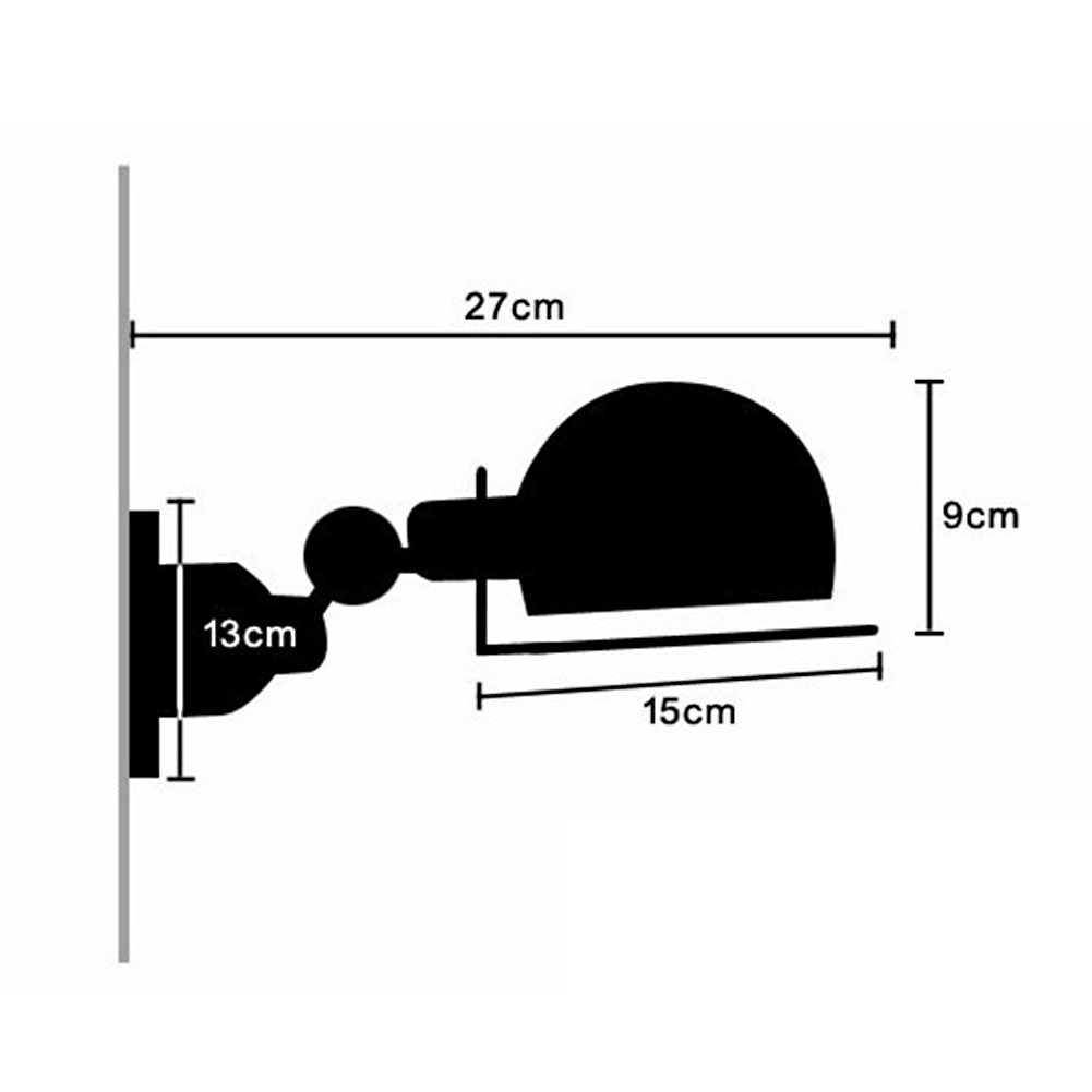 Image 5 - Industrial loft jielde mini Adjustable retro E14 LED Wall Lights Sconce wall Lamp Fixtures for home lighting bedside living room-in LED Indoor Wall Lamps from Lights & Lighting
