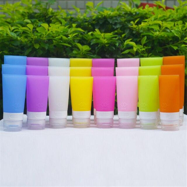 TTLIFE Портативный косметический мягкий силиконовый путешествия бутылки Косметических Душ бутылочка для лосьона 4 цвета на выбор