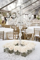 5PCS/lots 10 arms acrylic crystal wedding centerpiece candelabra candle holder flower stand/wedding chandelier/