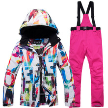 Pants-Set Snowboarding Jacket Snow-Costumes Ski-Suit Outdoor-Wear Skiing Female Waterproof