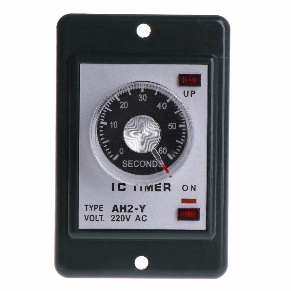 0 60 секунд/Минут Питание на реле таймера задержки с гнездом переменного тока 220 В AH2 Y переключатель времени|Таймеры|   | АлиЭкспресс