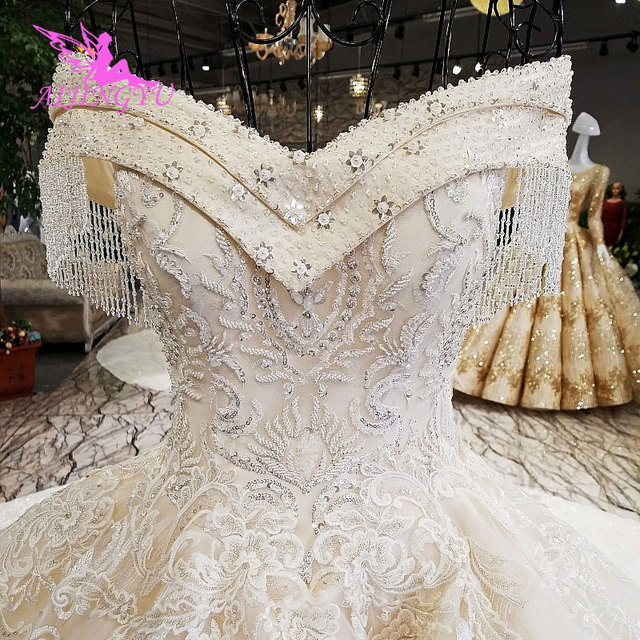 AIJINGYU Real Photo Wedding Dresses Bridal Gown Shop 2021 2020 Made In China Popular Boho Designer Gowns Wedding Dress Outlet