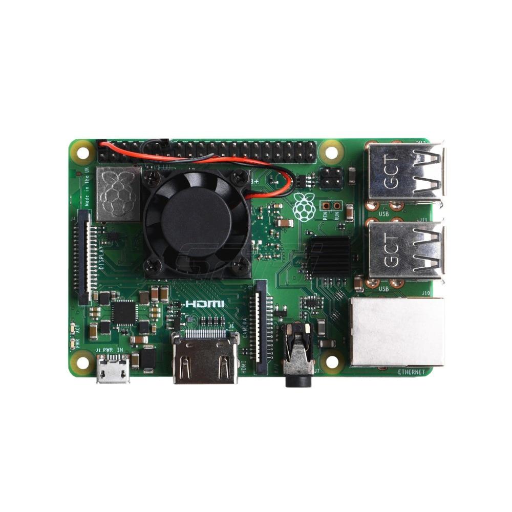 1//2 Dual Fan Square Cooling Fan with Heatsink Kit For Raspberry Pi 4B//3B+//3B//2B