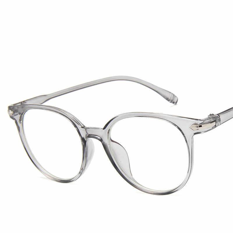2019 แฟชั่นผู้หญิงกรอบแว่นตาผู้ชายกรอบแว่นตา Vintage Vintage รอบ Clear เลนส์กรอบแว่นตาออพติคอล