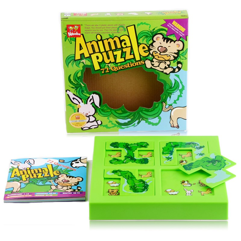 Quality New Kids Animal Maze Puzzle IQ Mind Logic Brain Teaser Puzzles Game Toys for Children 72 Questions 9