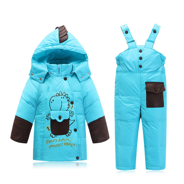 Kids Winter Coat and Jacket set 2 pieces Down parkas Girls and Boys Snow Outerwear Baby Warm suits
