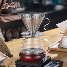 Dripper Stainless steel Cup Coffee Maker V60 Drip Brewer  Espresso Filters Accessories