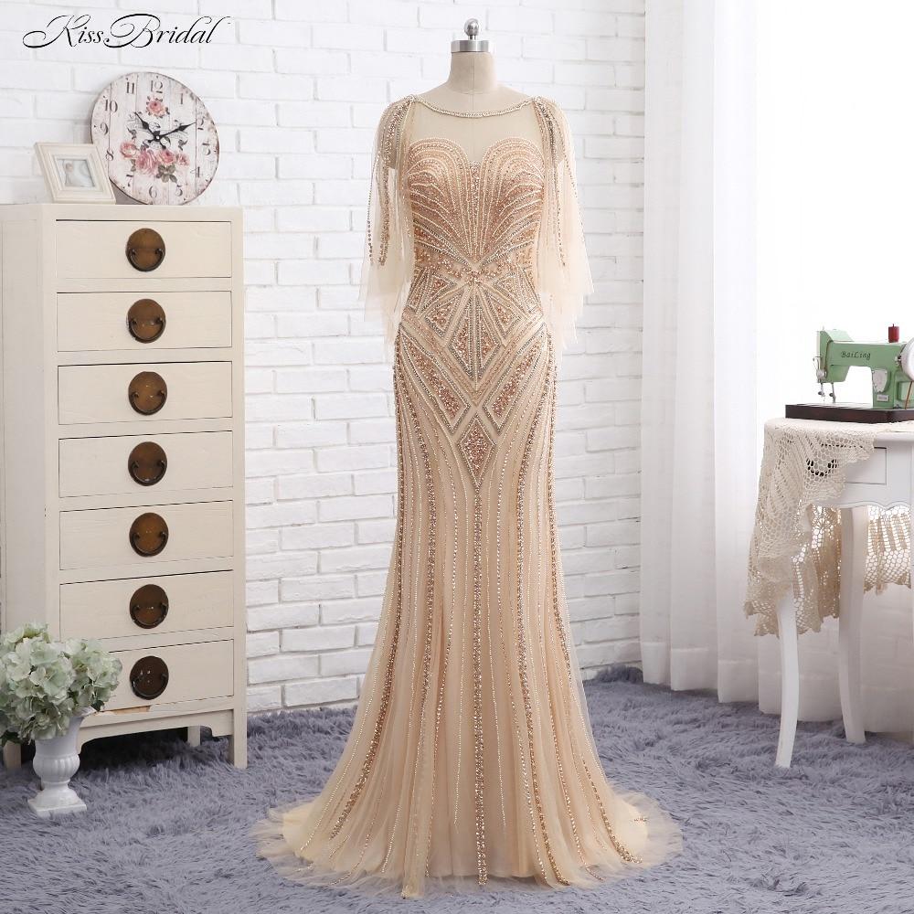 Elegant New Long   Evening     Dress   High Neck Off the Shoulde Floor Length Ball Gown Lace Formal   Dresses   2017 Vestido de festa