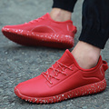 High Quality Men Casual Shoes Lace Up PU Leather Flat Walking Shoes Man Trainers Sport Basket Femme Superstar Zapatos Red Bottom