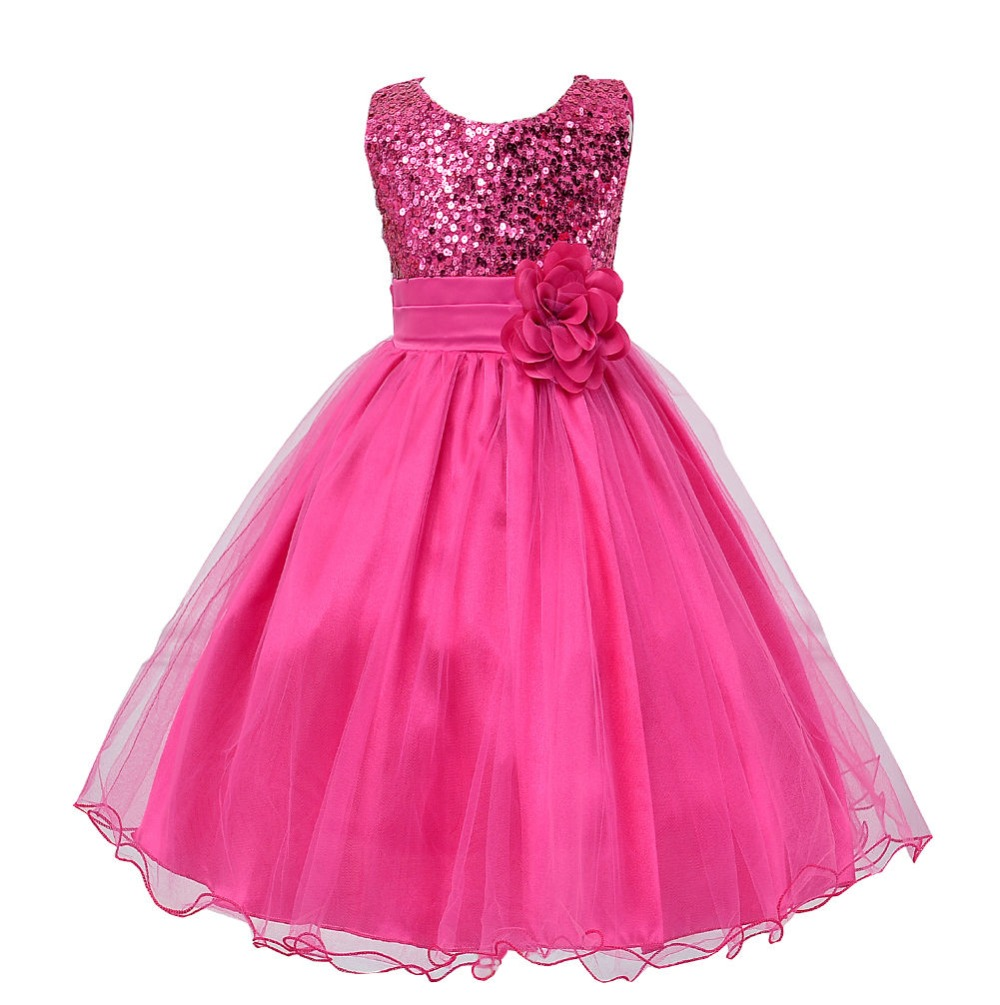 New Summer Flowers Dress For Girls For Wedding and Party Baby Clothes Princess Party Kids Dresses For Girl vestido infantis new girls flowers dress for wedding and party summer baby clothes princess kids dresses for girl children costume 3 10t w1625133