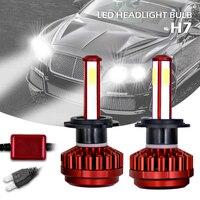 2pcs H7 100W 12000LM 6000K All In One LED Car Headlight Headlamp Kit High Low Beam