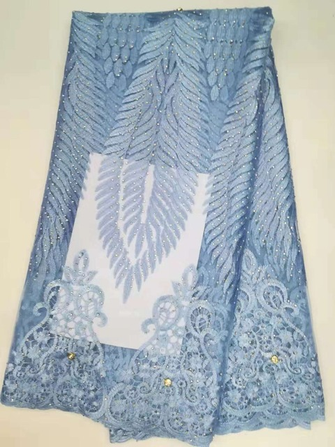 733d67f07fc Power Blue Bride Polish Lace Fabric In Switzerland Nigerian Eyelet Lace New  Design Italian Material Hot