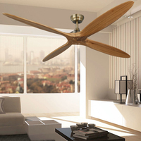 60 Inch Wooden Ceiling Fan Dc Remote Control Decorative Wood Ceiling Fans Without Light Fan Lamp 220V Ventilador De Techo