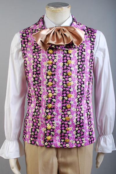 Willy Wonka And The Charlie Chocolate Factory Costume Vest Only Purple Jacket Halloween Carnival Shirt Costume