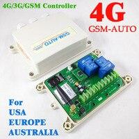 4G версия GSM AUTO двойной большой реле дистанционный переключатель GSM сигнализации входной порт (на борту часы для ваш таймер рабочие функции