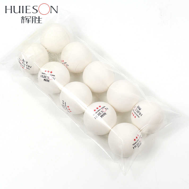 Huieson 10pcs New Material Table Tennis Ball 40+mm Diameter 2.8g 3 Star ABS Plastic Ping Pong Balls for Table Tennis Training