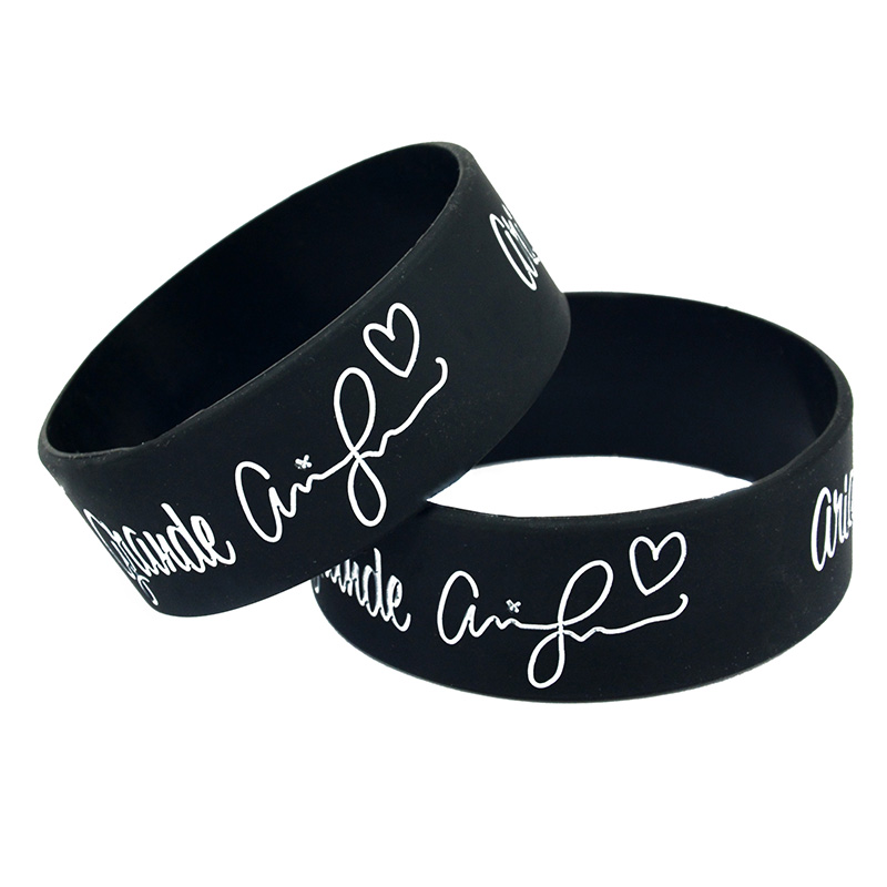 OneBandaHouse 1PC 1 Wide Band Star Bracelet Ariana Grande Silicone Wristband ...