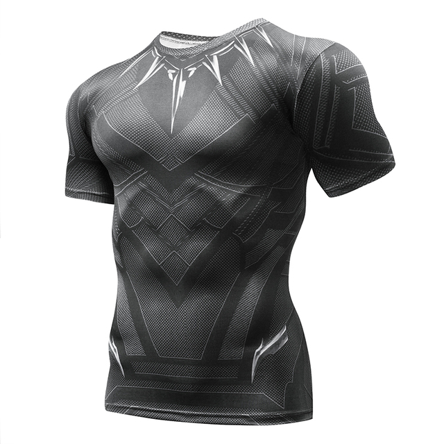 7b1e427923fe Black Panther T Shirt Captain America Civil War Tee 3D Printed T-shirts Men  Marvel Avengers iron man Fitness Male Crossfit Tops
