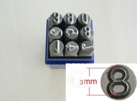 9PCs 3mm Steel Number Punch Or Steel Number Stamps Jewelers Machine
