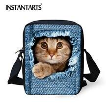c83b5b1359e5 INSTANTARTS Baru Wanita Messenger Lucu Hewan Denim Pet Cat Dog Travel Bahu  Bolsas Crossbody Tas Kasual