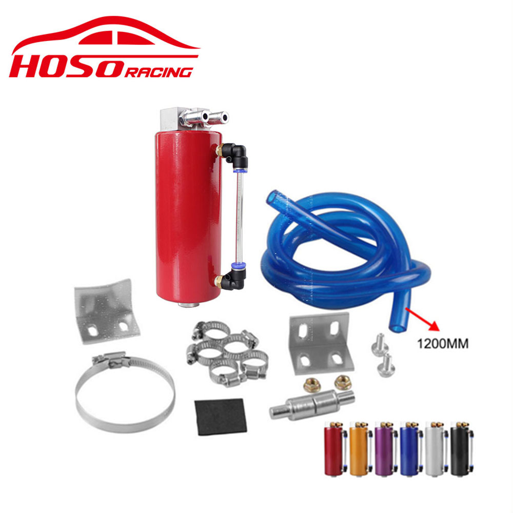 Universal Aluminum 350ML Oil Catch can Racing Oil Catch Tank/Can Round Can Reservoir Turbo цены