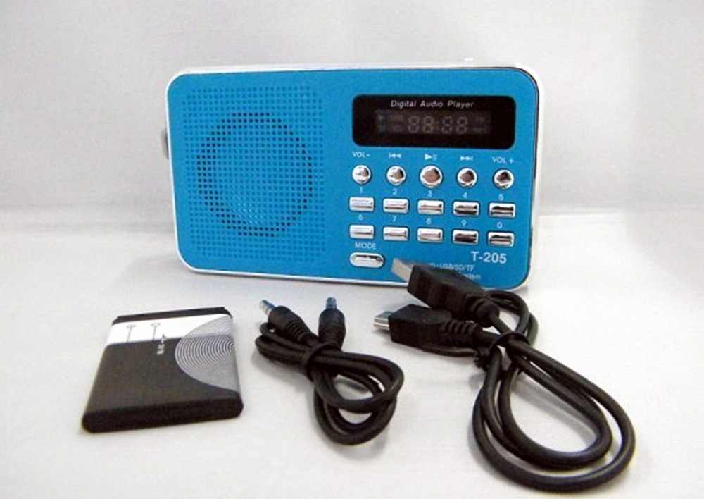 REDAMIGO récepteur Radio FM Portable USB stéréo mini haut-parleur Radio FM Ubwoofer Super basse Radio Portable TF MICRO SD MP3 T205R