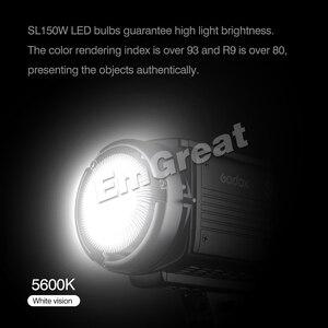 Image 2 - Godox SL 150W 150 ワット 5600 18K CRI 93 + 16 チャンネル LED スタジオ連続ビデオライト Bowens 一眼レフカメラ用カメラとリモコン