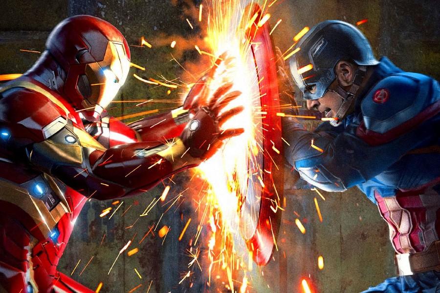 Diy Frame Captain America 3 Captain Vs Iron Man Cloth Silk