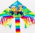 O envio gratuito de alta qualidade crianças asseclas pipa pipas 10 pçs/lote com linha punho kitesurf wei pipa fábrica de brinquedos ao ar livre quente