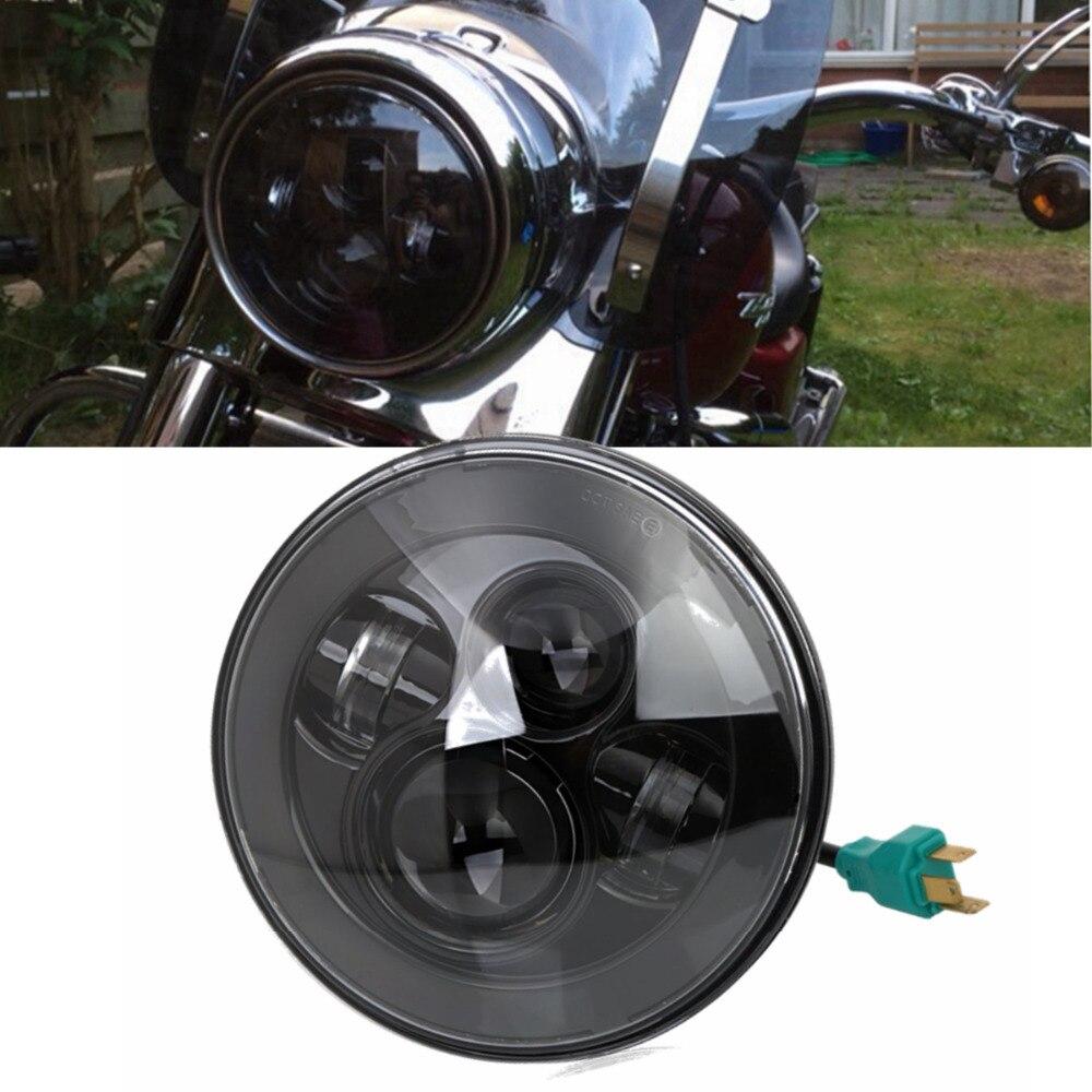 5.75 5 3//4 Inch 40W Round LED Projector Headlight Hi//Lo Beam Motorcycle Headlamp Light Bulb for Harley Davidson Roadstar