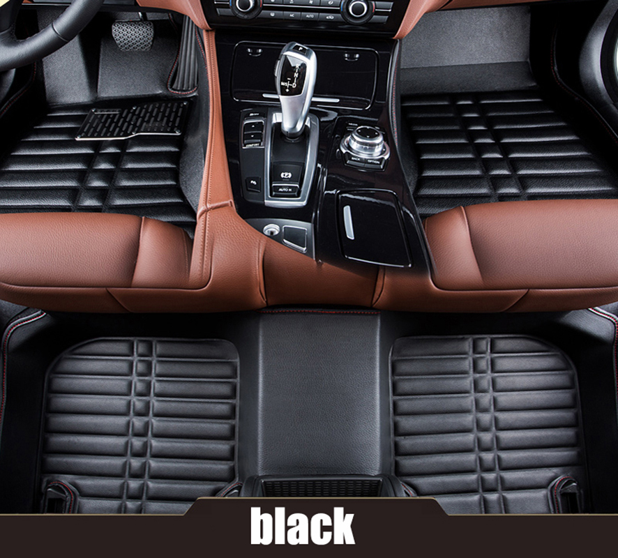 kalaisike Custom car floor mats for Volkswagen all models polo golf tiguan Passat jetta touran touareg xw cc Phaeton car styling car seat cushion three piece for volkswagen passat b5 b6 b7 polo 4 5 6 7 golf tiguan jetta touareg beetle gran auto accessories