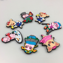 3D Cartoon 2019 New Style Multicolor Zodiac Pig Fridge Magnets Promotion gifts