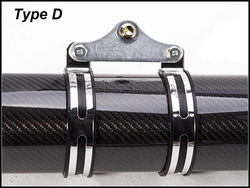 オートバイの排気マフラー炭素繊維ステンレス鋼ホルダークランプ固定リングサポートブラケット sc GP AR Akrapovic サイレンサー