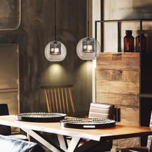 цена Jaxlong Glass Pendant Light Loft Industrial Wind Kitchen Dining Bar Retro Lamp Living Room Study Bedroom Lighting Fixture Avize онлайн в 2017 году