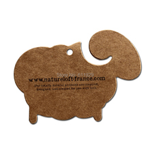 custom shape cutting kraft paper hang tags/clothing printed tags/garment label printing/main label/brand/cardboard tag