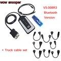 DHL ОСВОБОЖДАЕТ Bluetooth WOW SNOOPER V5.008R3 программного обеспечения Лучшее качество одной pcb НОВЫЙ Черный CDP с Грузовик кабель