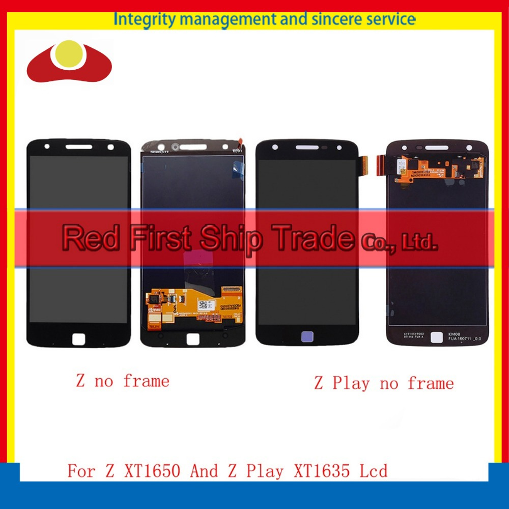 For Motorola Moto Z Droid XT1650 And Z Play Droid XT1635 Full Lcd Display Touch Screen Digitizer Assembly Complete Black White