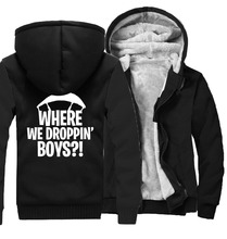 thicken coat plus size tracksuit 2019 winter wool liner hooded jacket men Where We Droppin Boys sweatshirt man harajuku hoodies