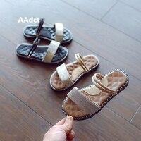 Aadct الصيف الأميرة الفتيات الأطفال النعال النعال الناعمة الوحيد الموضة التجارية الرئيسية الاطفال النعال للفتيات الأطفال الأحذية