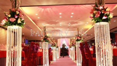 Hotsale acrylique colonne de mariage pilier en cristal pour la décoration de scène de mariage 10 pcs/lot