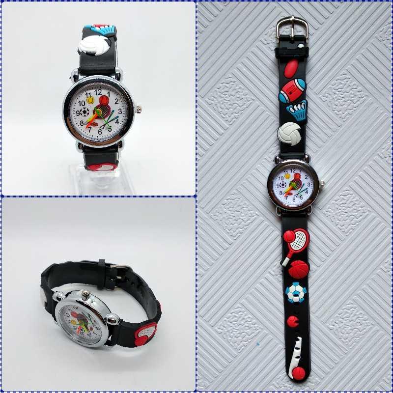 קריקטורה מוצרי ספורט בייסבול ילדים שעונים בנות בני תלמידי שעון ילדי קוורץ שעוני יד בדמינטון מחבט ילד שעון