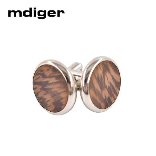 Mdiger Cufflinks Wood Mens Large Round Cufflink High Cuffinks Wedding