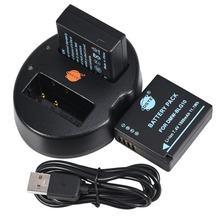 DSTE 2 шт. dmw-blg10 Батареи + USB двойной Зарядное устройство для Panasonic blg10e blg10gk blg10 DMC-GF6 dmc-gx7 gf6 GX7