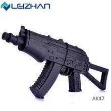 LEIZHAN USB flash drive rubber AK47 Gun Shape USB 2.0 pen drive 8gb 16gb 32gb weapon Flash Stick memory card Pendrive U Disk