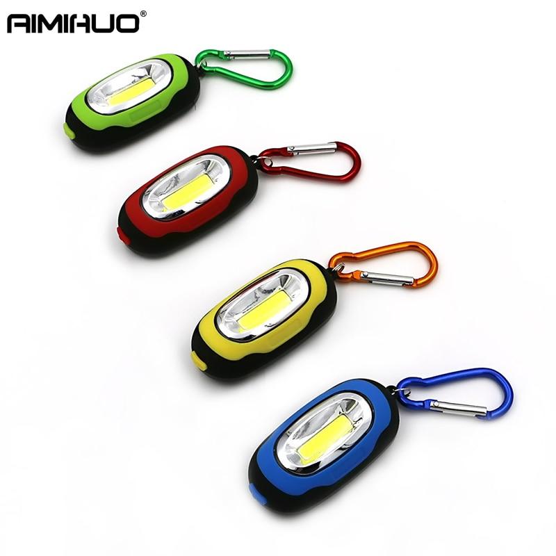 AIMIHUO COB mini keychain light flashlight Portable Led Torch Lamp Keychain Mini Flashlight
