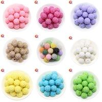 20MM 100Pcs/Lot Choose Colors Fashion Beads Chunky Bubblegum Resin Rhinestone Beads Ball For Kids Girl Jewelry Making