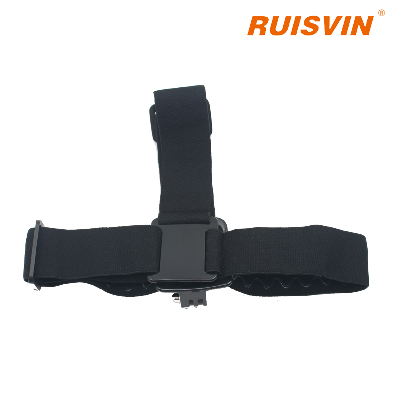 RUISVIN Adjustable Head Strap Mount For Go Action camera pro Hero for EKEN SJ4000 5000 Cameras Accessories with anti-slide glue
