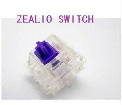 Zealio переключатели (тактильные) фиолетовый пользовательский 62 г 65 г 67 г 78 г прозрачный корпус для механической клавиатуры