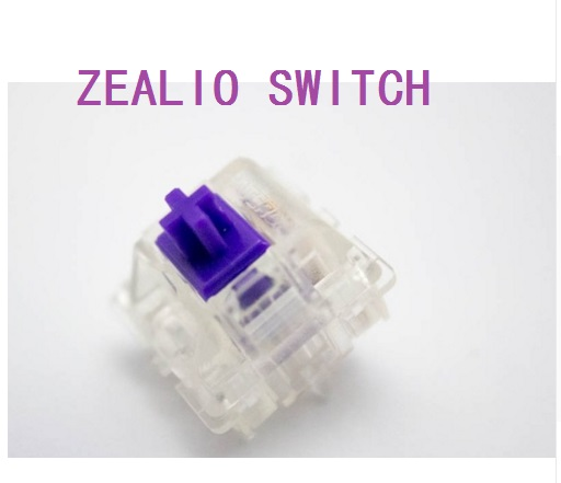 Zealio Switches (Tactile) Lila Custom 62g 65g 67g 78g Transparente Hülle für mechanische Tastatur