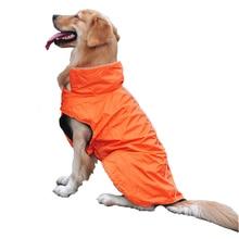 Venxuis Размышление об отделке на воротнике и спине одежды для собак Осень водонепроницаемая ткань для собак Pet Пальто для собак